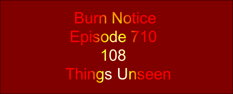 Burn Notice  Episode 710         108 Things Unseen
